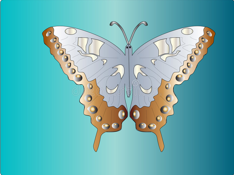 Butterfly. Easy to resize or change color stock illustration