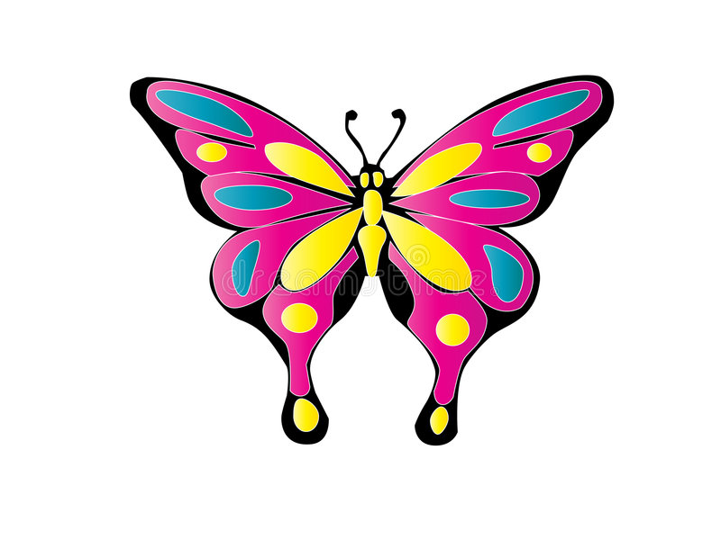 Butterfly. Tribal easy to resize or change color vector illustration