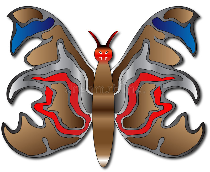 Download Butterfly stock vector. Image of vampire, blue, evil, background - 7307732