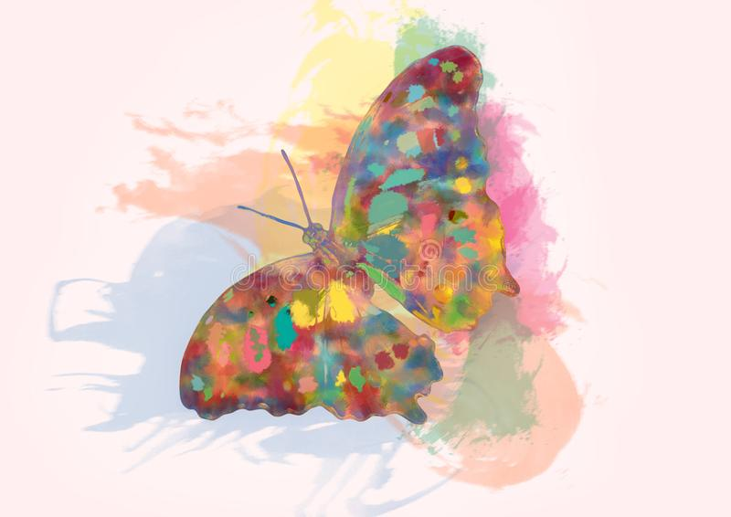 Butterfly abstraction royalty free illustration