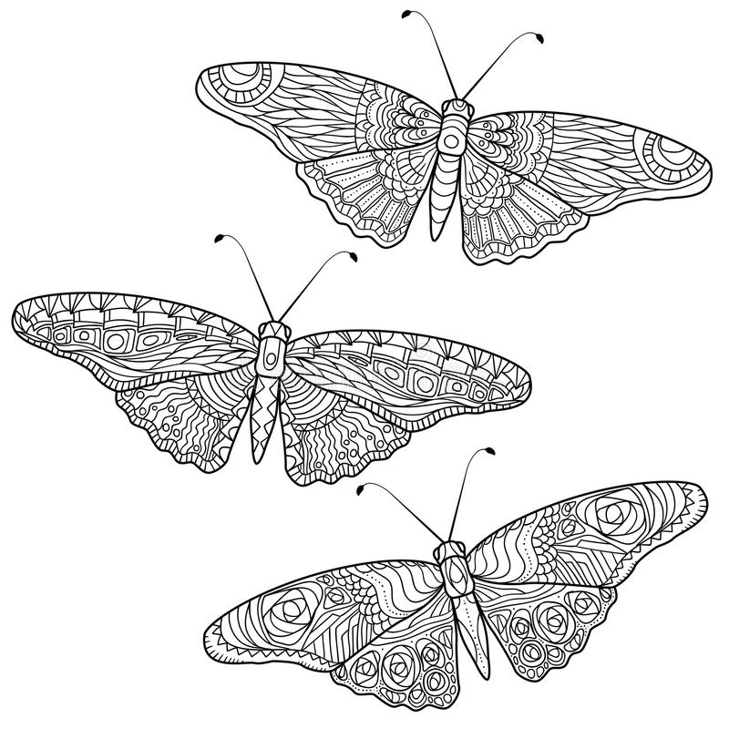 Download Butterfly Anti Stress Coloring Pages In Doodle