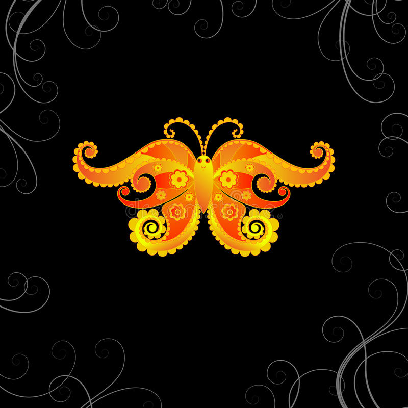 Download Butterfly background stock illustration. Illustration of glow - 17592374