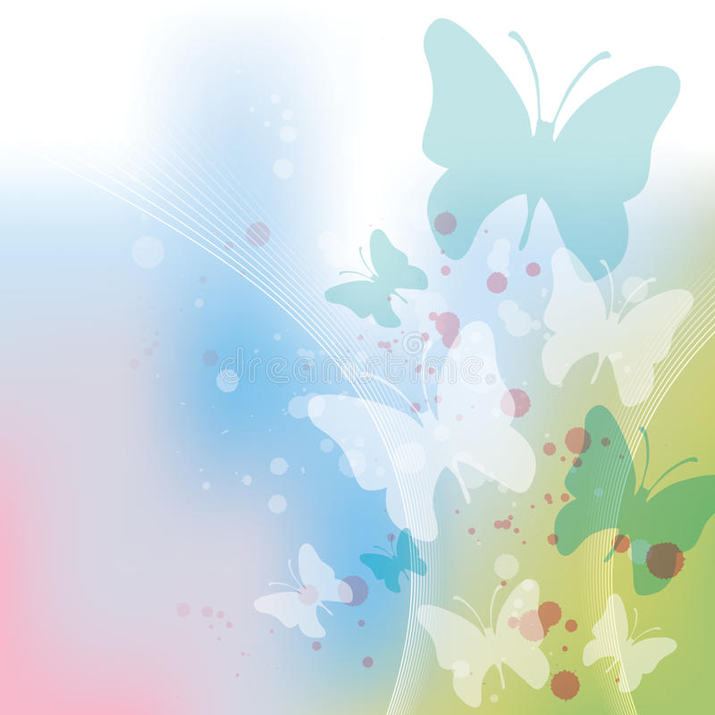 Butterfly Background stock illustration