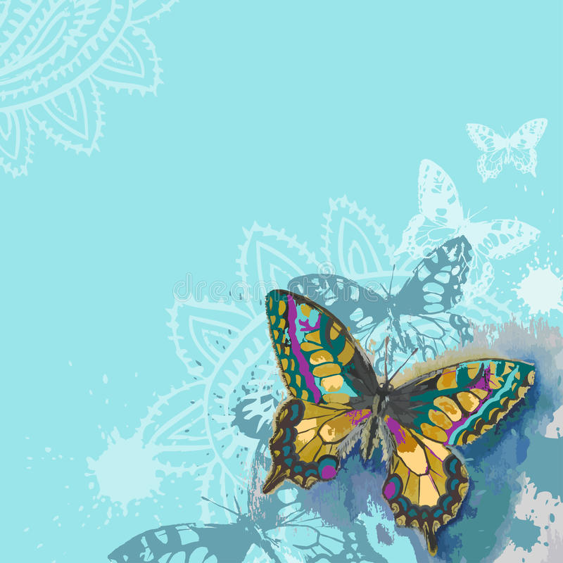 Download Butterfly background stock illustration. Image of card - 36271640