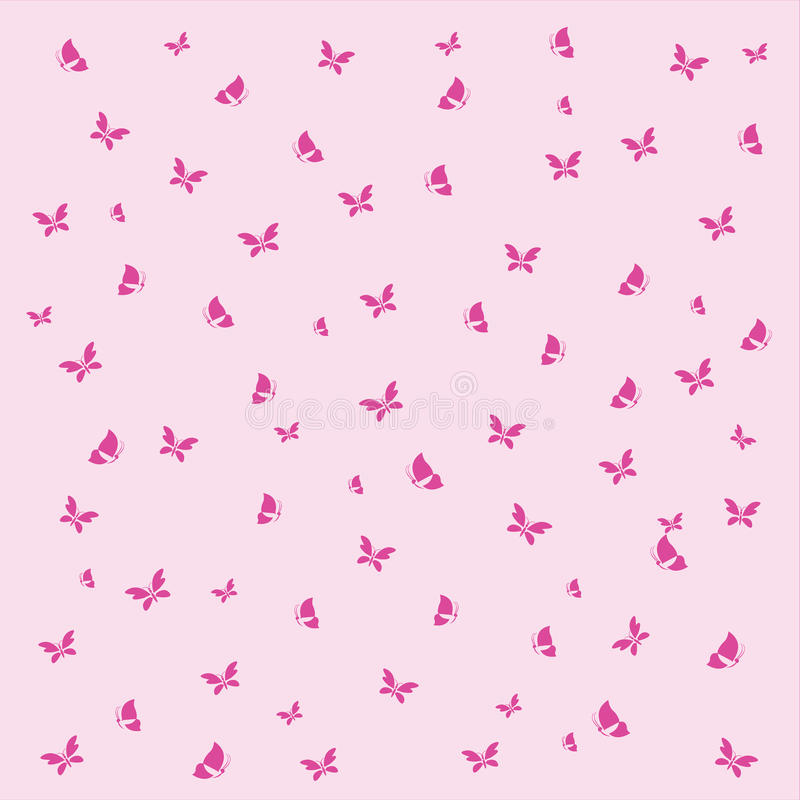 Free Butterfly Background Wallpaper. Vector Illustratio Royalty Free Stock Photo - 20455705