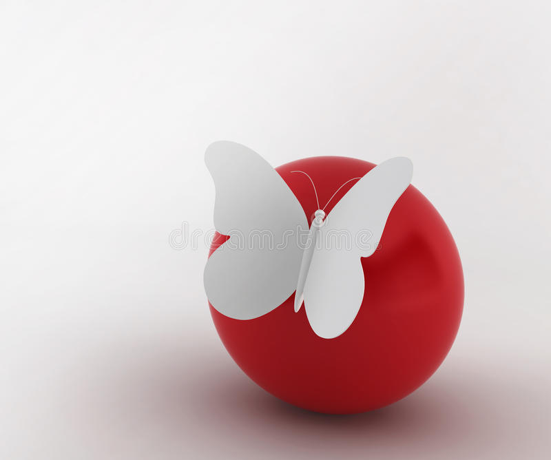 Download Butterfly on a ball stock illustration. Illustration of bright - 27858573
