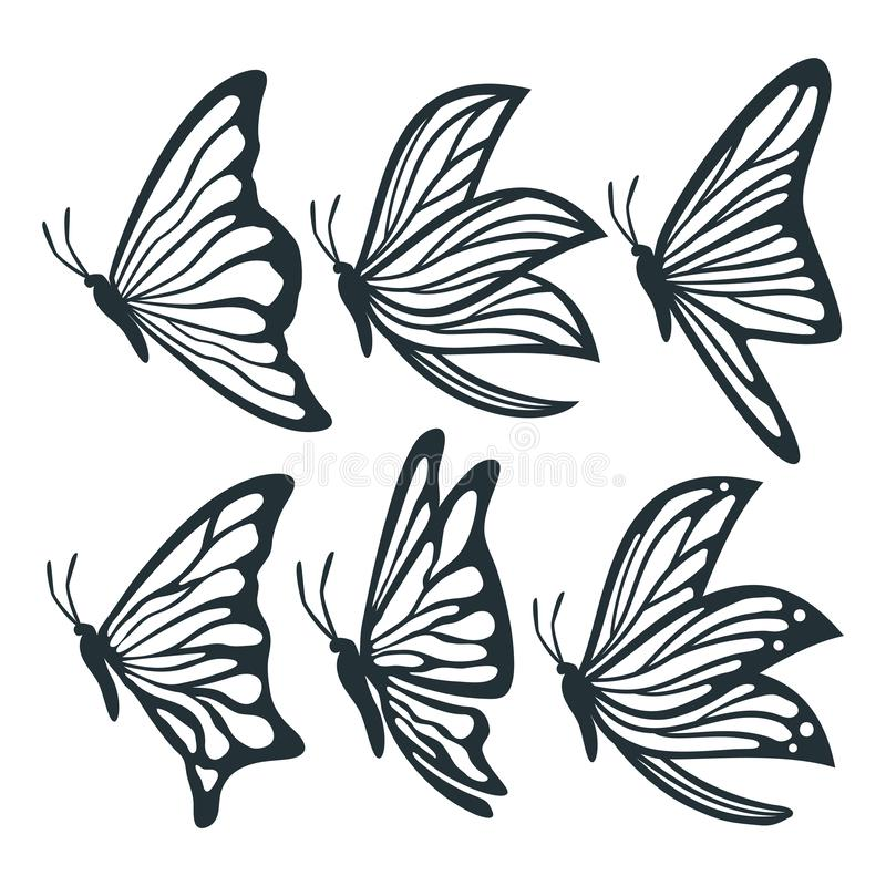 It is an image of Butterfly Cut Out Printable within plain