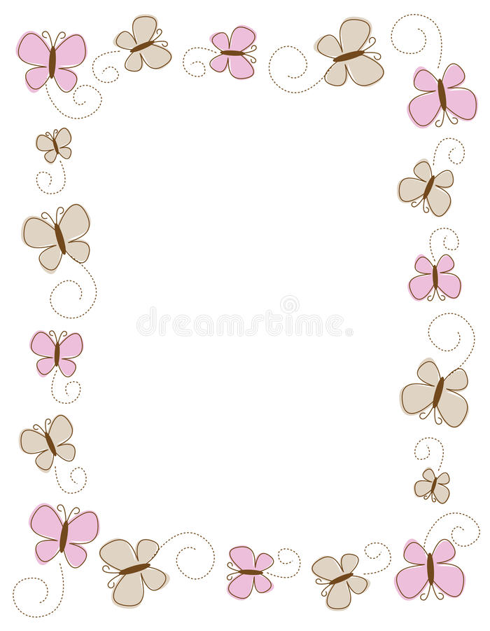 Download Butterfly border stock vector. Illustration of insects - 12531917