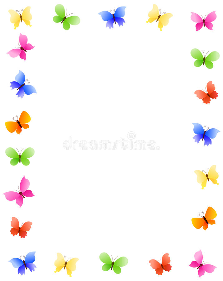 Download Butterfly border stock vector. Image of accent, empty - 14572261