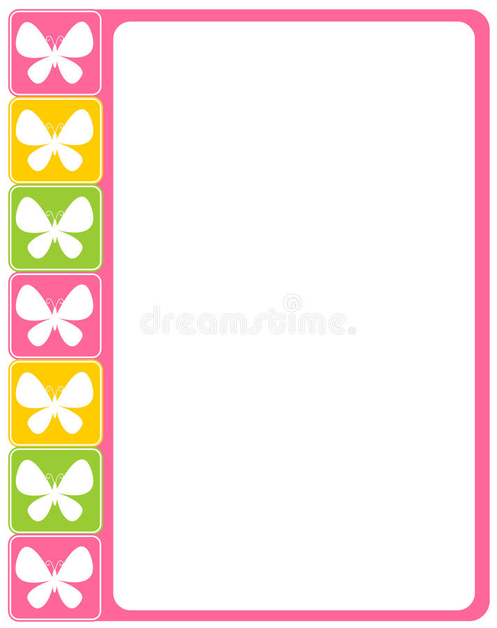 Download Butterfly border stock vector. Illustration of empty - 18890021