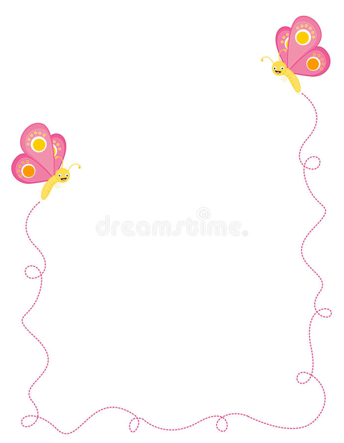 Butterfly Border / Frame Royalty Free Stock Images