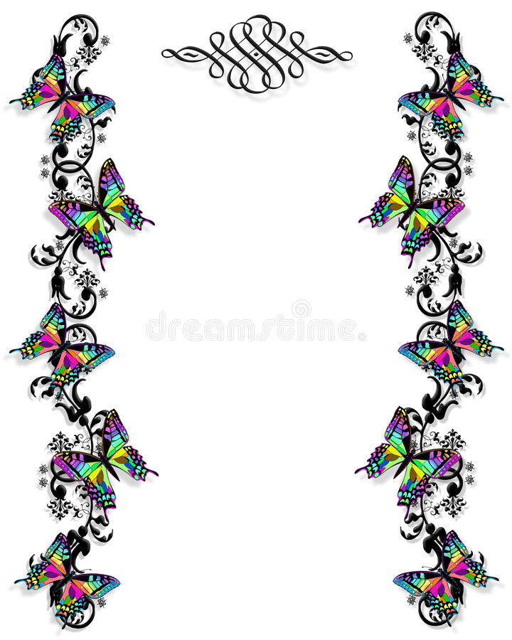 Butterfly border invitation template stock illustration download butterfly border invitation template stock illustration illustration of design detailed 4056848 stopboris Gallery