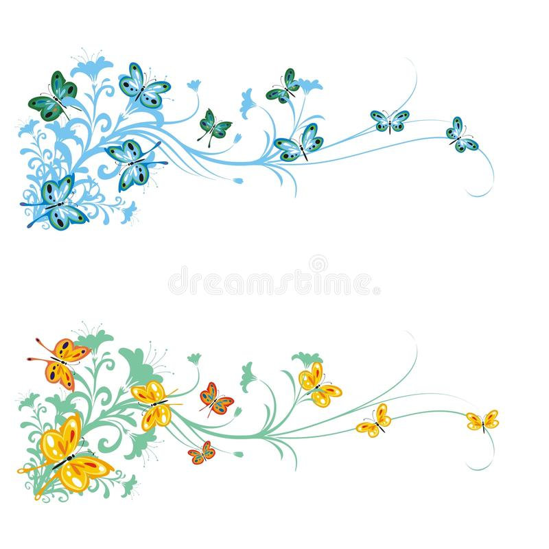 Download Butterfly Branches Ornament Stock Vector - Image: 16404279