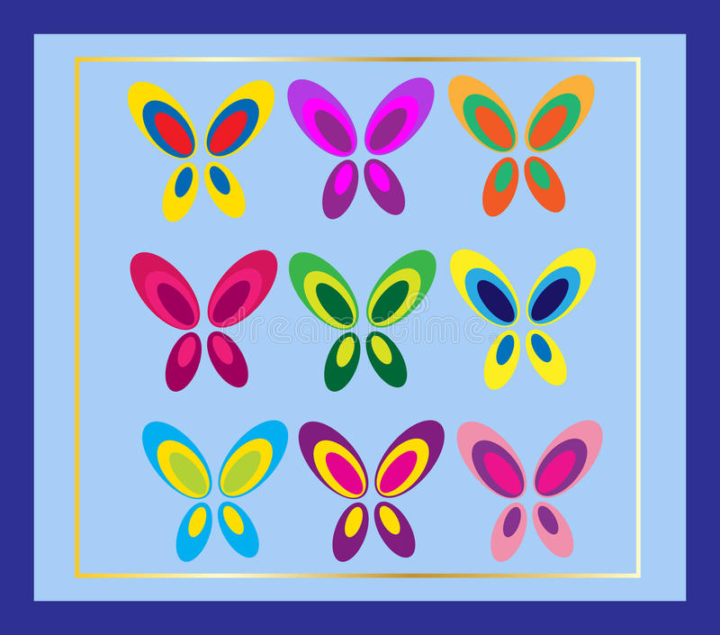 Download Butterfly card stock vector. Image of graphic, cards - 11909127