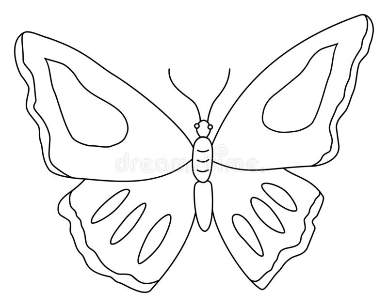 butterfly clipart outline doodle vector illustration coloring book children page