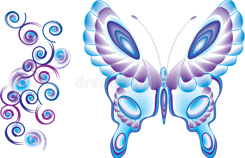 Butterfly coils vector illustration