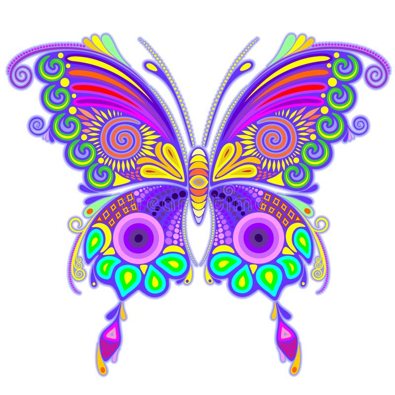 Download Butterfly Colorful Tattoo Style Stock Vector - Illustration: 89697710