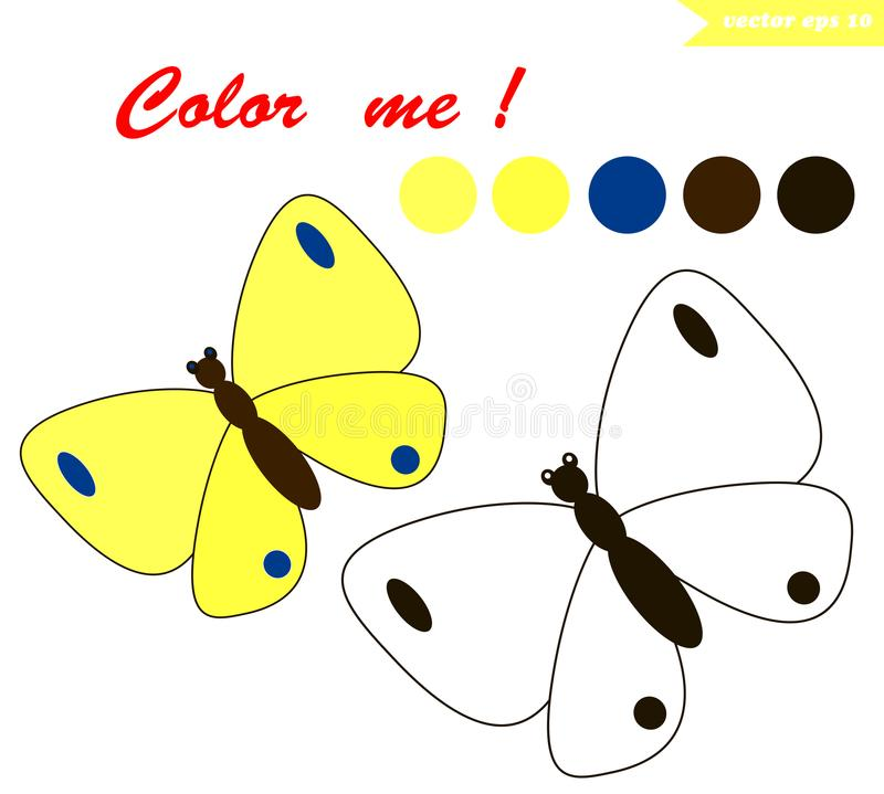Butterfly coloring page stock illustration. Illustration of insect ...