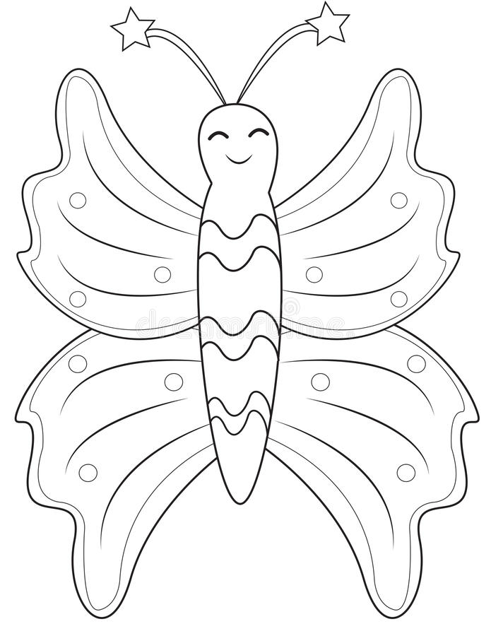 Butterfly coloring page royalty free illustration