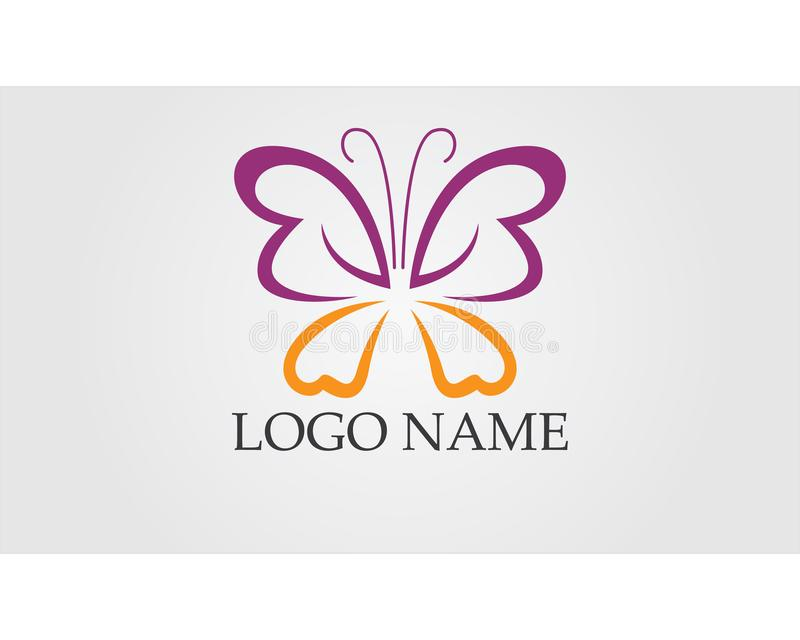 Butterfly conceptual simple, colorful icon. Logo. Vector illustration stock illustration