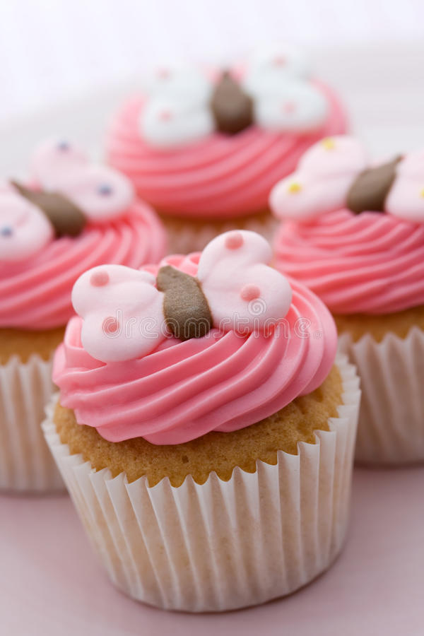 Download Butterfly cupcakes stock image. Image of frosting, close - 10805867