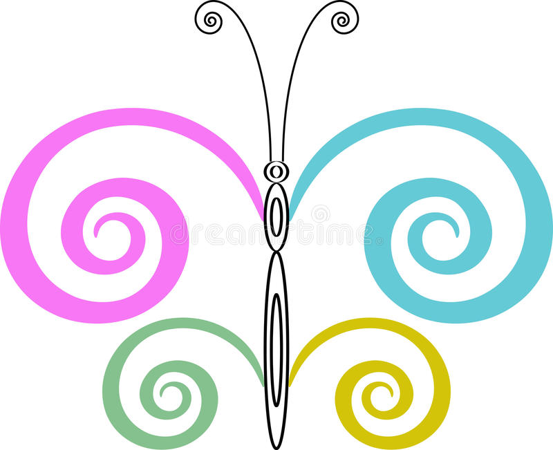 Download Butterfly design stock vector. Image of line, design - 14583273