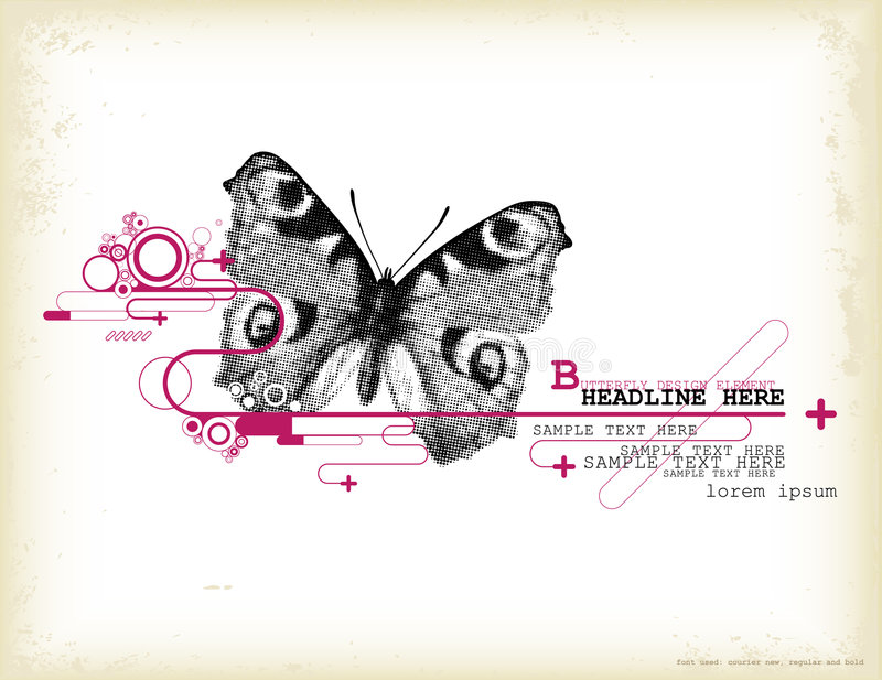 Download Butterfly design element stock vector. Image of background - 9323859
