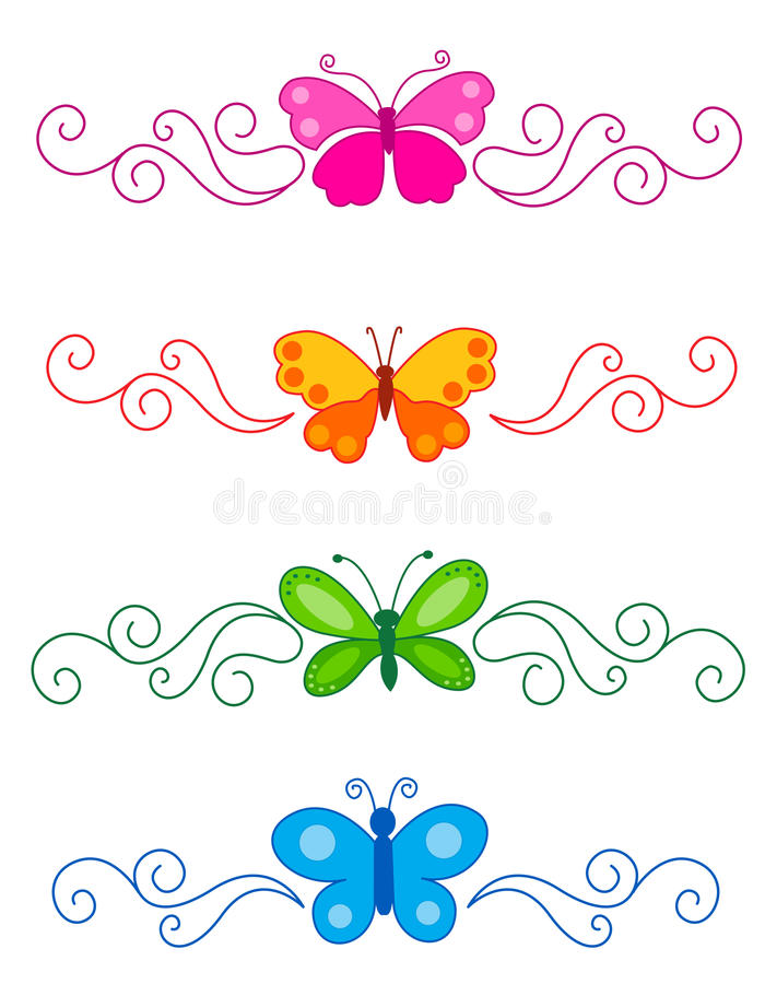 Download Butterfly divider stock vector. Image of colour, graphic - 24222837