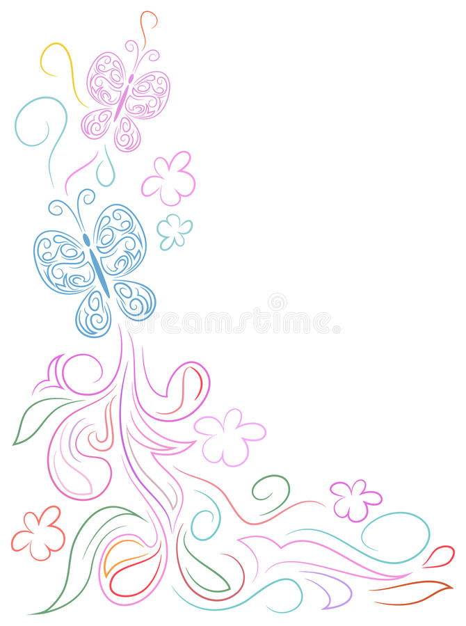 Butterfly doodle design vector illustration