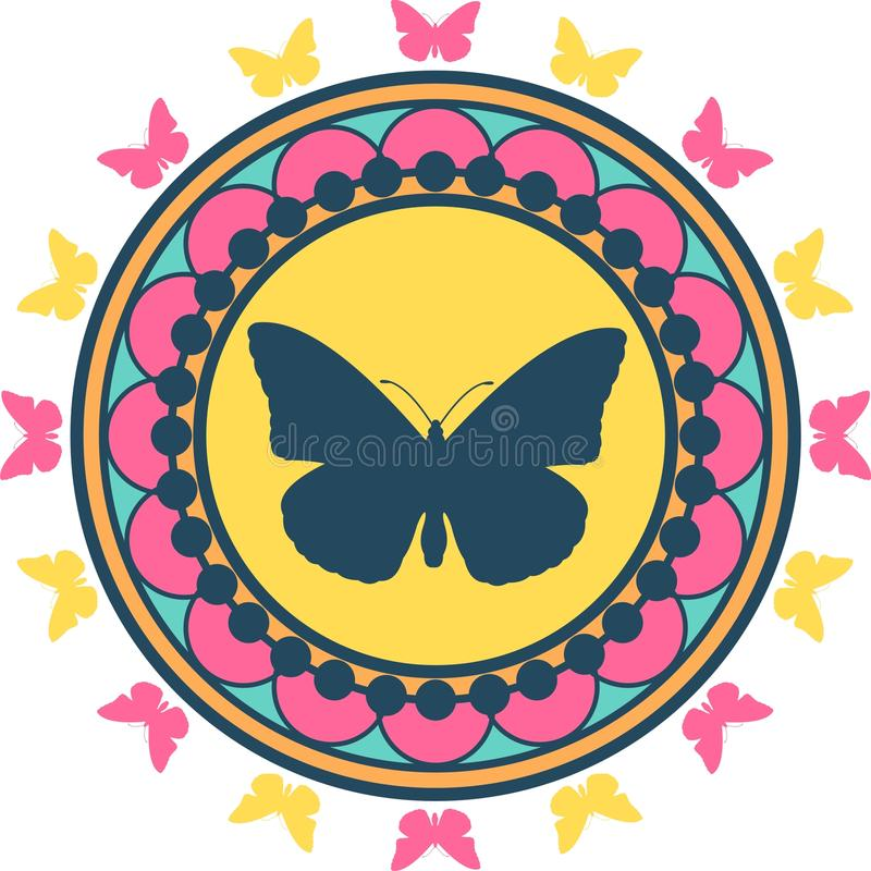 Download Butterfly Emblem Illustration Stock Vector - Image: 14081312