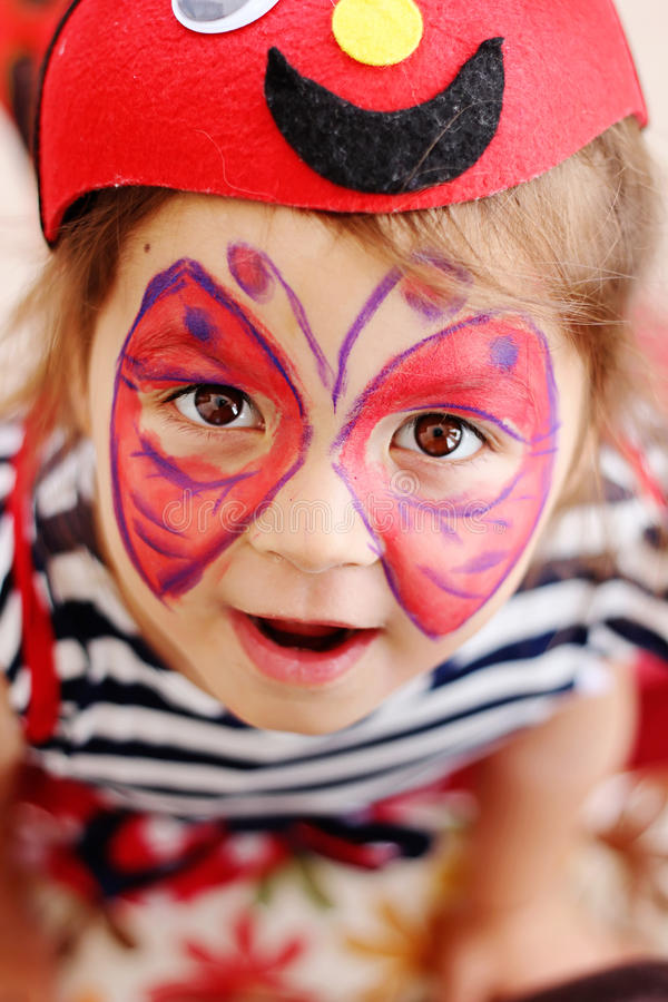 Butterfly Face Painting stock photo