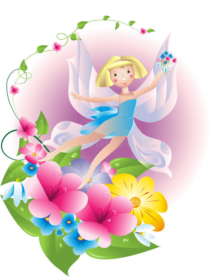 The Butterfly-fairy Royalty Free Stock Photos