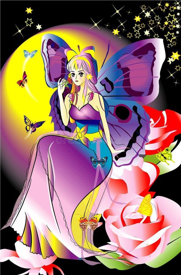 Butterfly fairy stock illustration