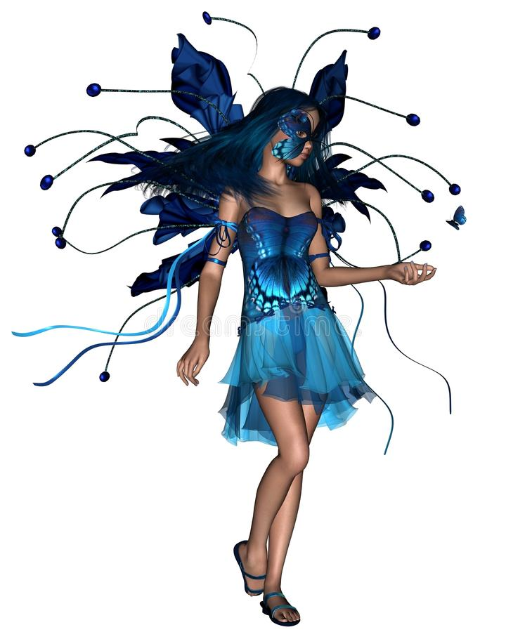 Butterfly Fairy - Blue stock photos
