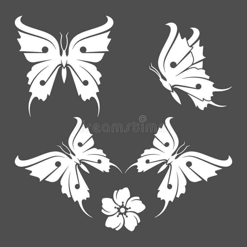 Butterfly-flight-flower vector illustration