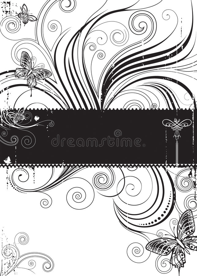Download Butterfly Floral stock vector. Illustration of flora, composition - 7606578
