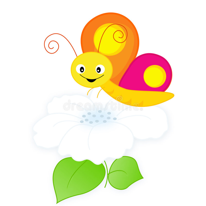 Download Butterfly and flower stock vector. Illustration of animal - 8439897