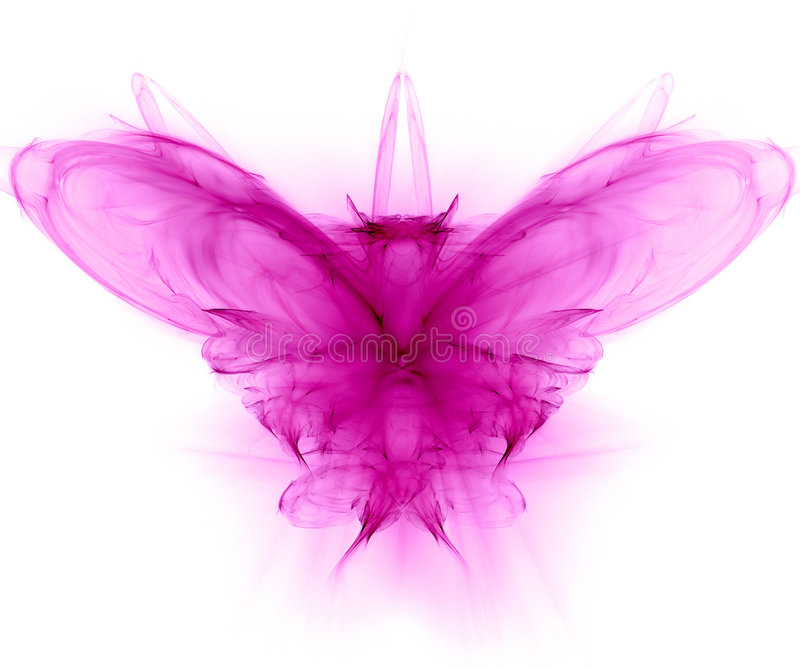 Butterfly - fractal generated royalty free stock images