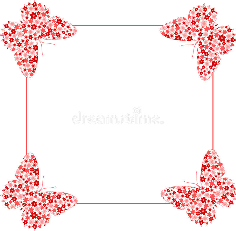 Download Butterfly on frame stock vector. Image of ornate, insect - 13274918