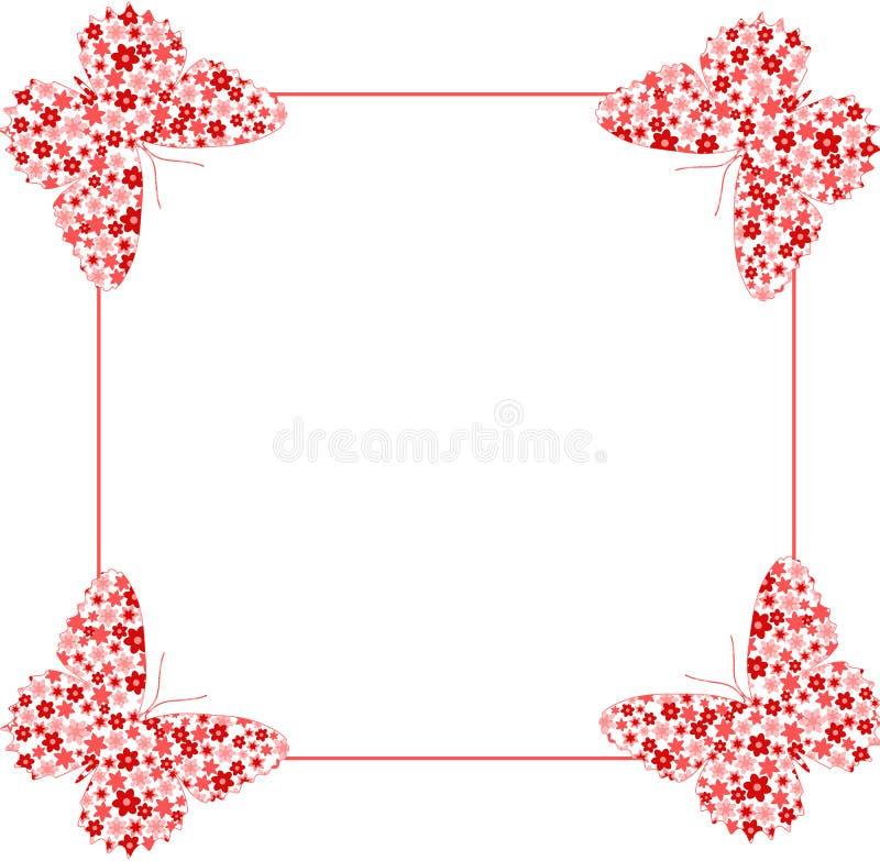 Butterfly on frame stock vector. Illustration of ornate - 13274918