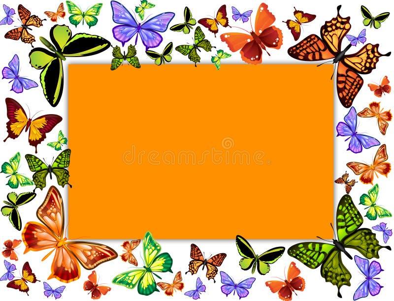 Butterfly frame stock illustration. Illustration of shapes - 18778984
