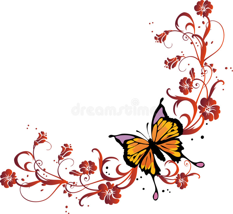 Butterfly frame stock vector. Illustration of bloom, insect - 2372431
