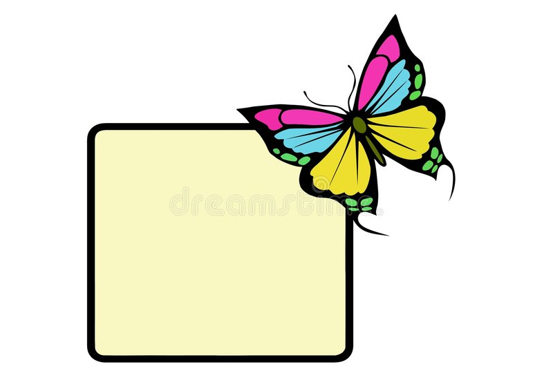 Download Butterfly frame stock vector. Illustration of vermin, illustrations - 6410863