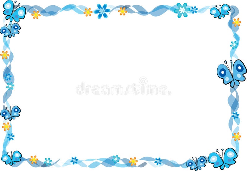 Butterfly with frame stock illustration. Illustration of border ...