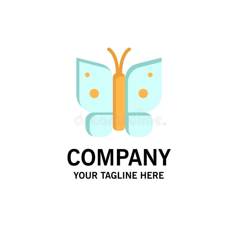 Butterfly, Freedom, Insect, Wings Business Logo Template. Flat Color stock illustration
