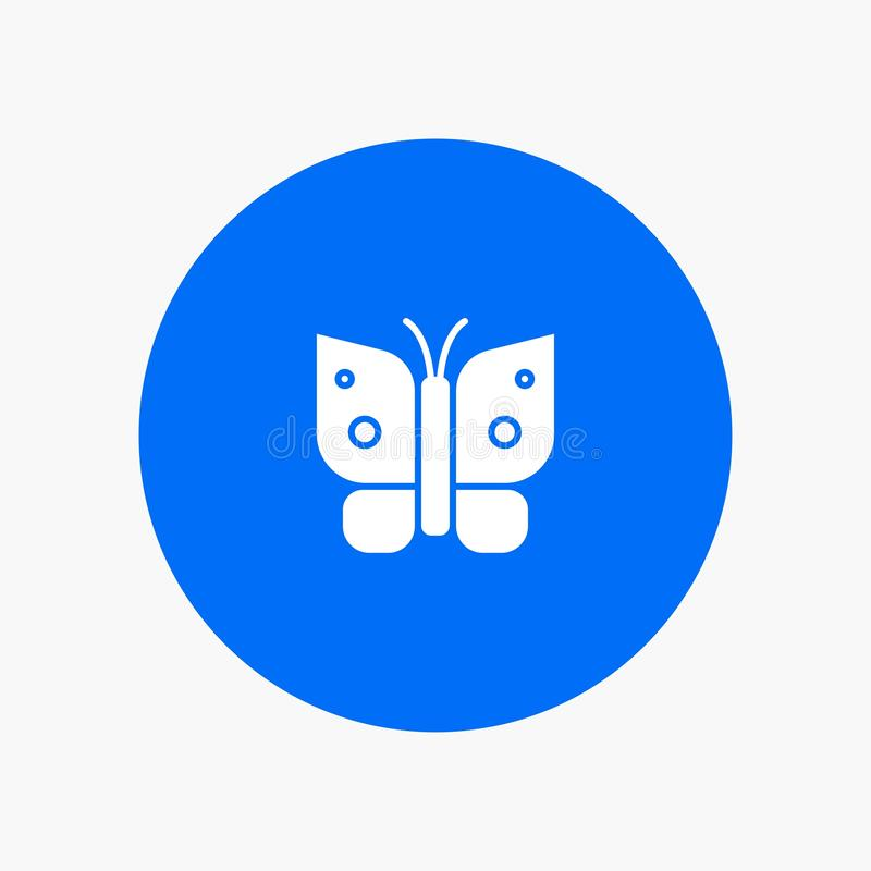 Butterfly, Freedom, Insect, Wings white glyph icon stock illustration