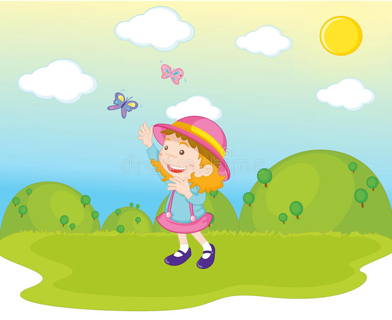 Download Butterfly Girl stock vector. Illustration of fresh, happy - 10541072