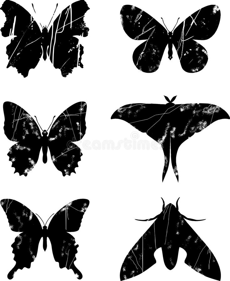Download Butterfly grunge set 15 stock vector. Image of abstract - 26923337