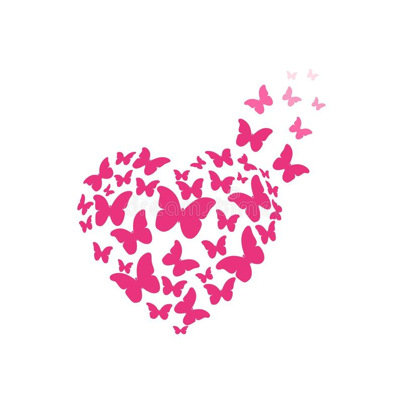 Butterfly heart royalty free illustration