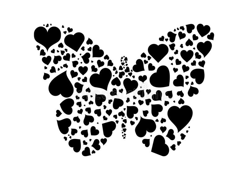butterfly of hearts stock vector  illustration of pattern